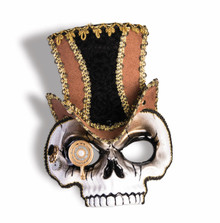 Steampunk Venetian Skull Mask with Gears Sunglass Style