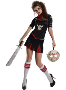 Jason Vorhees Cheerleader Style Ladies Outfit Licensed Friday the 13th Size Large
