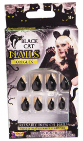 Black Cat Nails Stick On Adhesive tabs