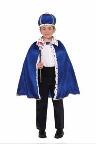 King Robe and Crown Set Blue Kids