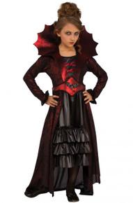 Victorian Vampire Dress Kids Costume