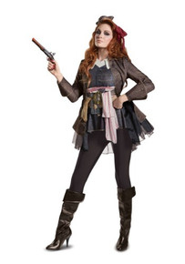 Pirates of the Caribbean Dead MenTell NoTales Licensed Jack Sparrow Women's Costume