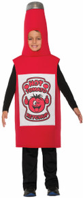 Ketchup Bottle Costume Kids One Size Fits Most up to Size 10