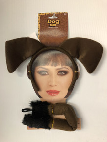 Dog Kit Brown Headband with Ears & Tail Set