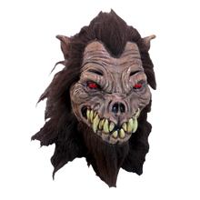Hound Mask with Red Eyes and Brown Fur