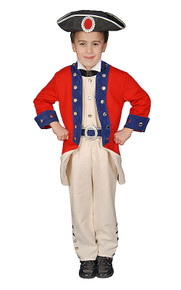 Deluxe Colonial Soldier Kids Costume