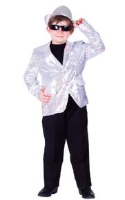 Sequined Blazer Child Jacket - Silver