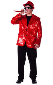 Sequined Blazer Men's Jacket - Red