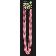Beads Pink Glow in the Dark Mardi Gras Beads