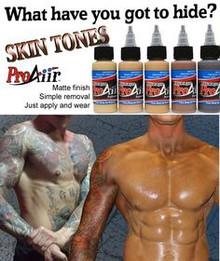 ProAiir Hybrid 1oz Skin Tone Kit 6pk Collection Waterproof Face/Body Airbrush Makeup