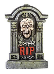 Howling Skull Tombstone Animated Prop