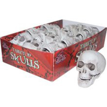 Table Top Decor Skulls Light Grey Color