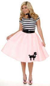 Poodle Skirt with Black Elastic Waist Band