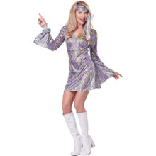 Disco Sensation Dress with Long Sleeves
