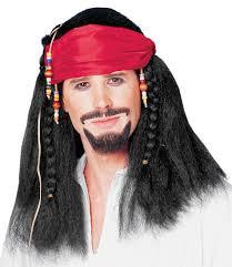 Buccaneer Wig w/ Bandana & Beads