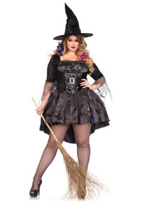 Black Magic Mistress Full Figured Witch Dress Womens