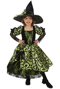 Nell the Witch Girl's Vintage Green Dress w/ Hat