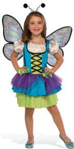 Glittery Blue Butterfly Kid's Costume