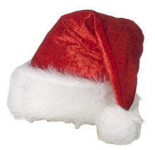 Santa Hat Velour Red Not ment to go over wig