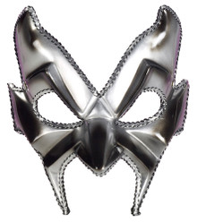 Devil Man Half Mask Silver