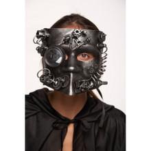 Silver Full Face Bauta Style Steampunk Mask