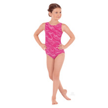 Sequin Waves Gymnastics Tank Leotard