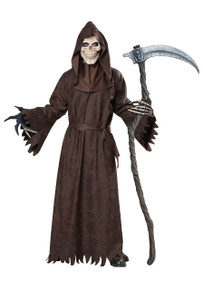 Ancient Reaper Brown Robe w/Hood & Mask