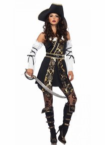 Black Sea Buccaneer Adult Pirate 4pc Costume