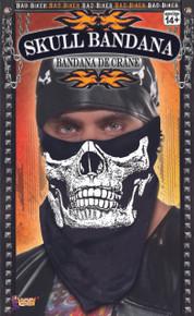 Skull Face Bandana Skeleton Print of Lower Face