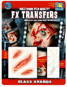 FX Transfers Latex Free Glass Shards Self Adhesive