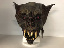 Bat Creature Mask with Large Ears and Red Eyes