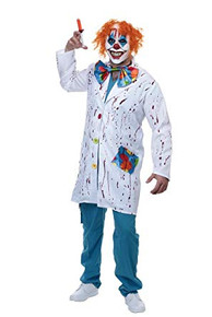 Patches Clown Adult Costume Set and Mask