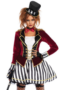 Night Ringmaster Dress Womens Circus Costume