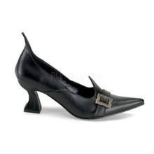 "Witch Shoe 2 1/2"" Heel Black Matte Pump"