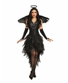 Angel of Darkness Black Sequin Dress