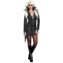 Madame Skeleton Striped Dress