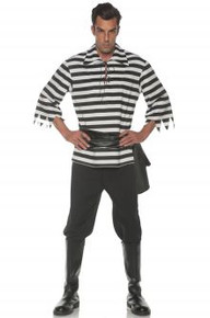 Pirate Costume Set Black Plus Size