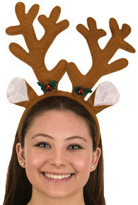 Antler Headpiece Reindeer with Bells