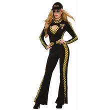 Race Car Jumpsuit Womens Black and Yellow