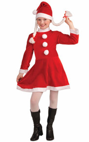 Little Miss Santa's Helper Girls Red Dress