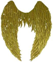 Gold Metallic Non Feathered Wings