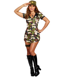 Booty Camp Womens 5 Piece Costume