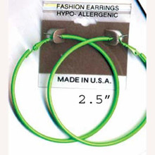 hoop earrings assorted neon colors