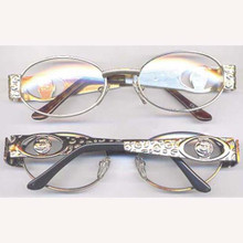Pimp glasses clear lens gold frame