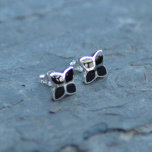 whitby jet four stone stud earrings