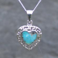 Kingman Turquoise Heart Pendant 003TU