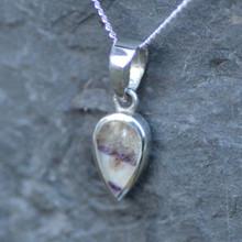 Derbyshire blue john little reverse teardrop pendant