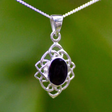Whitby Jet Celtic Pendant 473P