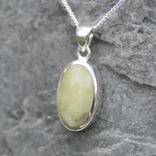 oval connemara marble pendant