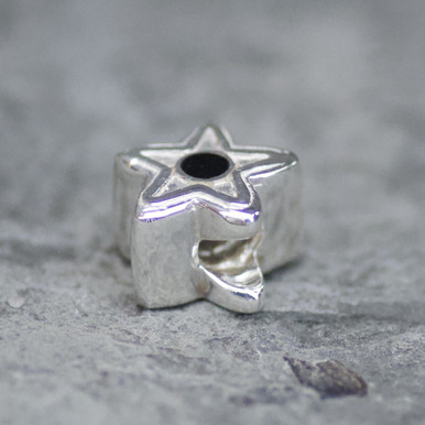 whitby jet star charm bead